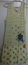 NAARTJIE Yellow Striped Bubble Dress Size 7 XL 2010 Summer 2 Indo Spot Pollen