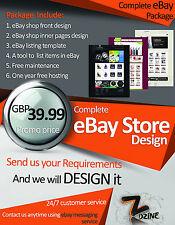 Completa NEGOZIO eBay Design & ASTA inserzione modello dinamico Negozio eBay Design