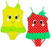 Girls Lilly Lemon Suzi Strawberry Fruits Novelty Swimming Costume 2 to 6 Years