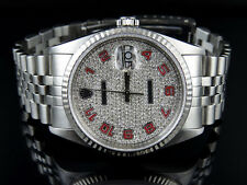 Mens 18k/Stainless Steel Rolex Datejust Jubilee 36 MM Diamond Dial Watch 2.5 Ct