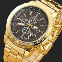 Luxury Men Sport Stainless Steel Watch Analog Quartz Movement Wrist Watches