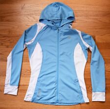 PEARL IZUMI Select Compression Hoodie Shirt Womens L Blue Running Cycling Jacket
