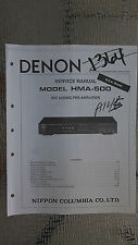 Denon hma-500 service manual original repair book stereo pre amp amplifier
