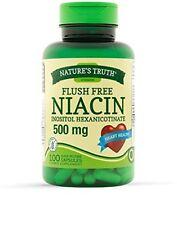 Niacin 500mg Flush Free Heart Health & Energy Metabolism Capsules 100 Ea