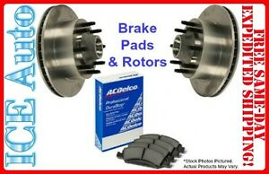 2009 FORD E-350 SD ACDelco FRONT Brake PADS & OE Replacement Brake ROTORS Kit