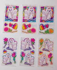 Lisa Frank Dogs 25 Sticker Lot Vintage Hearts Flowers Roses High Heel Jewelry