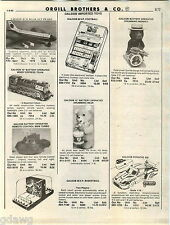 1980 ADVERTISEMENT Toys Galoob Illco Jak-Pak Store Display Train Battery Porsche