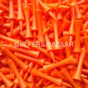 25 X Hi-Vis Neon Orange Castle Golftees Free U.K.P&P