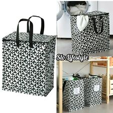 12G Reusable Shopping Storage Bag Label Black White ECO Tote Laundry IKEA KNALLA