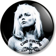 "BLONDIE Debbie Harry 25mm 1"" Pin Button Badge Logo Punk Rock Pop Band Music B&W"