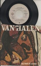 "VAN HALEN    Rare 1981 USA Promo Only 7"" OOP Rock P/C Single ""So This Is Love"""