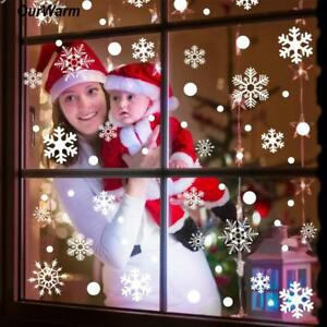 48pcs Christmas Snowflake Window Sticker Winter Decoration for Xmas and New Year