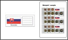 25 Look 330444-SLK Country Labels Slovakia Flags For NH24 coin sheets Numoh