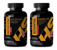 Metabolism booster - GRAPE SEED EXTRACT - RESVERATROL stem cell enhancer - COMBO