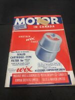 MOTOR IN CANADA CAR MAGAZINE APRIL 1952 Great Colours And Ads