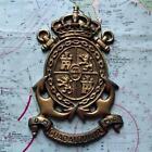 Old Spanish Navy Metal Plaque Tampion Crest : M43 Guadalquivir D.M