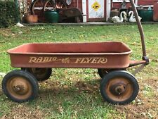 Vintage 1950s Radio Flyer Metal child's Pull  Wagon