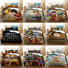 One Piece Luffy Anime 3D Bedding Set Duvet Covers Pillowcases Bedclothes Gift
