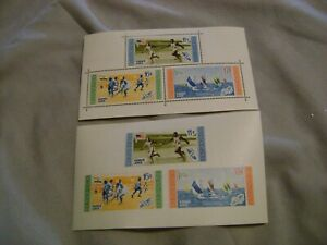 DOMINICAN REPUBLIC(1956)-Rome Olympic Games -LOT of 2 S.SHEETS,PERF,IMPERF. MNH