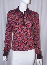 ANTHROPOLOGIE MOTH Pink Floral Print Henley Collared Long Sleeve Shirt Top Small