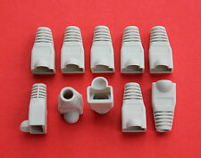 "RJ45 Strain Relief Boots for Cat5 in Grey ""Bag of 10"" NEW"