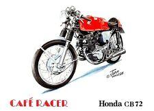 Honda Cb72 Años 70 Japoneses Moto Motocicleta Tarjeta De Cumpleaños