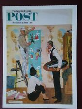 POSTCARD ADVERT SATURDAY EVENING POST F/PAGE  DATED  22 NOV 1958  - THE JOY OF P