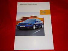 "OPEL Astra G Coupe ""Linea Blu"" Sondermodell Prospekt von 2002"