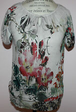 NWT Womens Love Amour Floral Print Top Size S