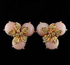 Opal Yellow Gold Vintage Fine Earrings