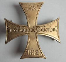 Husaren Reserveoffiziere Kreuz  14K vergoldet - Mit Gott für König und Vaterland