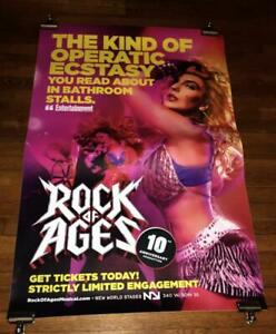 ROCK OF AGES 10TH ANNIVERSARY BROADWAY NY NYC  4FT subway POSTER #1 2019