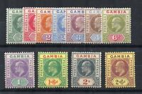 Gambia 1902-05 values to 2s 6d MLH/MH