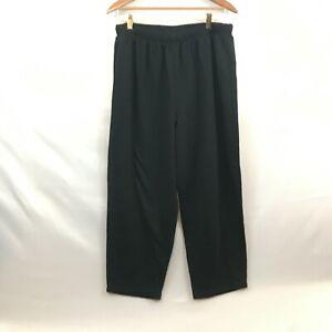 All American Comfort Womens Black Elastic Waist Pull On Sweatpants Size 1X
