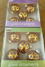 Martha Stewart Everyday Hand Decorated Glass Ornaments 2 boxes 10 balls total