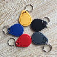 10PCS RFID IC Key Tags Keyfobs Token NFC TAG Keychain 13.56MHz Red Green Blue