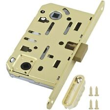 AGB Mediana Polaris Interior Door Silent Magnetic Privacy WC Lock Polished Brass