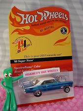 2014 Red Line Club Rewards Hot Wheels '66 SUPER NOVA Gasser☆blue☆RealRider #1304
