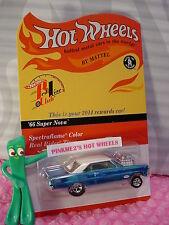 2014 Red Line Club Rewards Hot Wheels '66 SUPER NOVA Gasser☆blue☆RealRider #1304