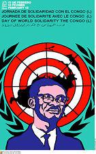 "Political cuban POSTER""Lumumba CONGO""Africa Struggle 12.Revolution Art Design"