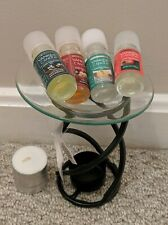 Yankee Candle Black Twist Fragrance Oil Warmer - 4 Oils Included