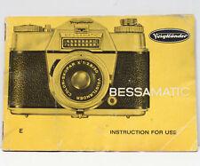 Voigtlander Bessamatic 35mm Film SLR Camera Instructions Manual Booklet 1960s