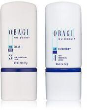 Obagi Nu Derm Clear FX Skin Brightening Cream 2 oz & Exfoderm 2 oz