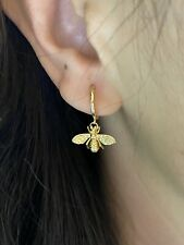 18k Gold Plated S925 Silver Bee Hoop Minimalist Earrings Gold Bee Earrings Gift