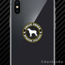 (2x) Proud Owner Spinone Italiano Cell Phone Sticker Mobile dog canine pet