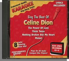 Karaoke CD+G - Sing the Best of Celine Dion - New Performer's Choice CD!