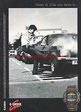 "G-Shock Casio ""Treat It Like You Hate It"" Car 1994 Magazine Advert #7318"