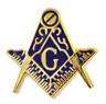 """Quadrato e Compasso con """" G """" Dorato Sagomato Massonico Massoneria Spilla Badge"""