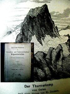 ZEITSCHRIFT des DT.u. ÖSTERR. ALPENVEREIN 1875 gebunden, Mitglieder selten SUPER