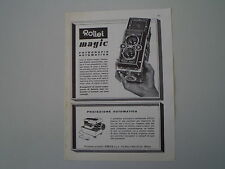advertising Pubblicità 1961 ROLLEI MAGIC